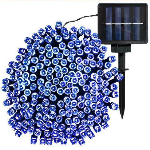 200ct Solar LED String Lights - 68' - Blue - Sunnydaze Decor - image 1 of 4