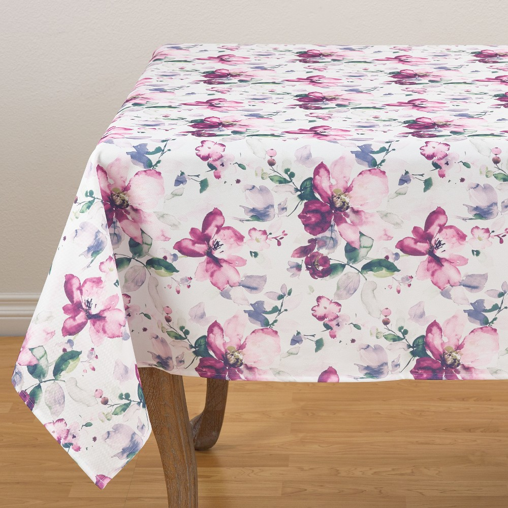 Painted Bouquet Tablecloths, Table Runners And Table Throws 58 - Saro Lifestyle, Budding Orchid