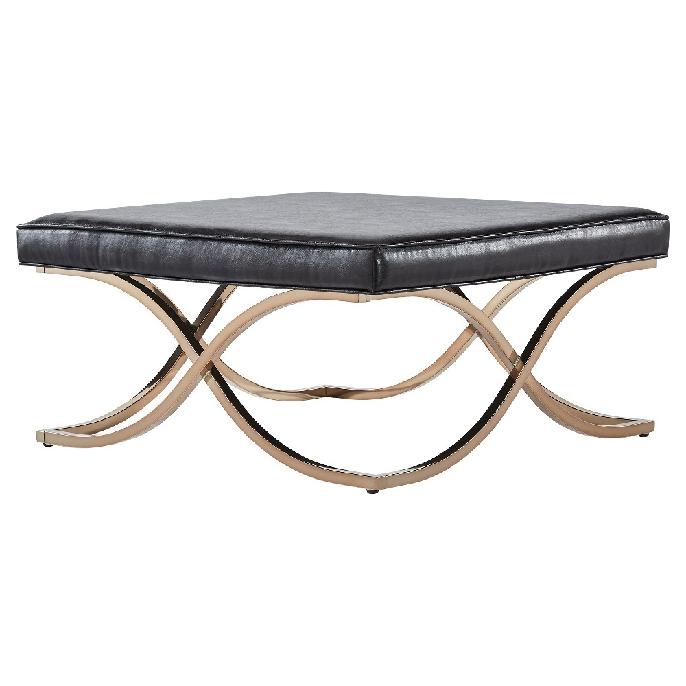 Fontaine Champagne X-Base Cocktail Ottoman Brown - Inspire Q