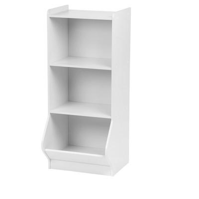 IRIS 3 Tier Storage Shelves with Footboard White