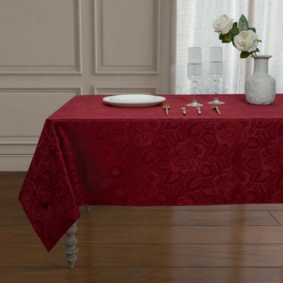 Kate Aurora Shabby Chic Floral All Purpose Fabric Tablecloth