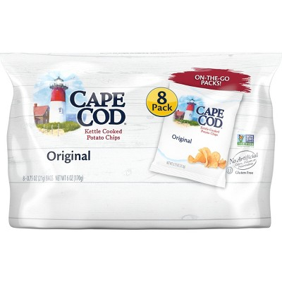 Cape Cod Original Flavored On The Go Kettle Cooked Potato Chips - 0.25oz/8pk