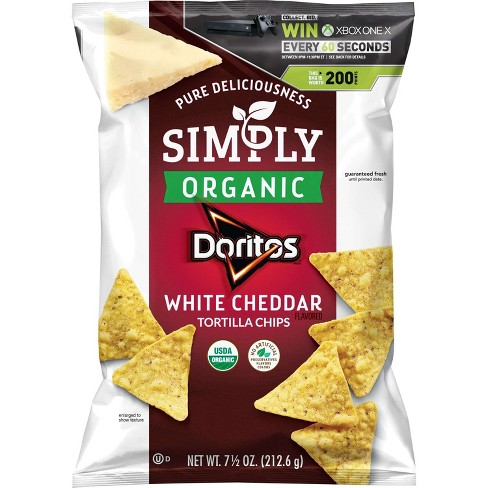 Doritos Simply Organic White Cheddar Tortilla Flavored Chips - 7.5oz - image 1 of 3