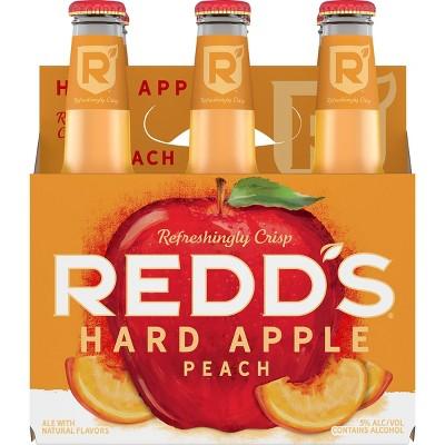 Redd's Hard Apple Peach Ale Beer - 6pk/12 fl oz Bottles