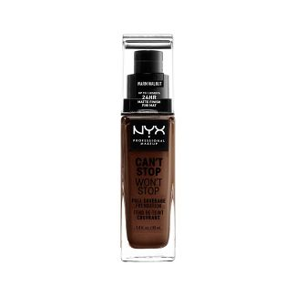 NYX Professional Makeup Can't Stop Won't Stop Full Coverage Foundation Warm Walnut - 1.3 fl oz