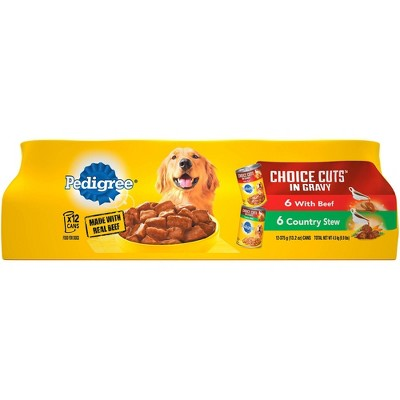 Pedigree Choice Cuts In Gravy Beef & Country Stew Wet Dog Food - 13.2oz/12ct Variety Pack