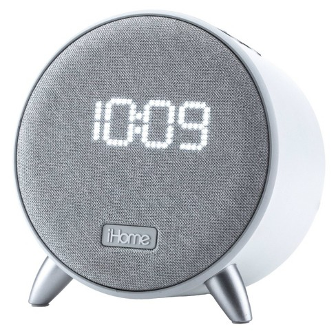 iHome Bluetooth Alarm Clock with Dual USB Charging and Nightlight - White/White - image 1 of 4