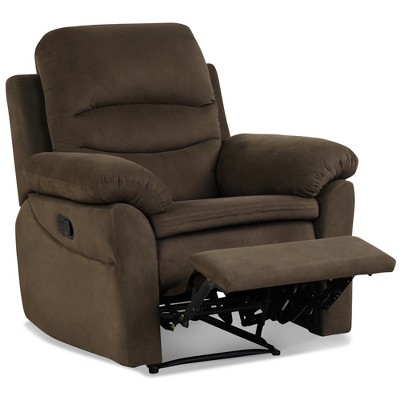 Costway Recliner Chair Single Sofa Armchair Sleeper Lounger w/ Footrest Grey\Brown