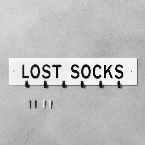 Wall Sign Lost Socks White - Hearth & Hand™ with Magnolia - image 1 of 3