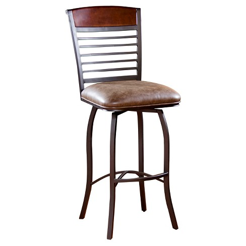 "Stefano 30"" Barstool Metal/Brown - American Heritage Billiards - image 1 of 3"