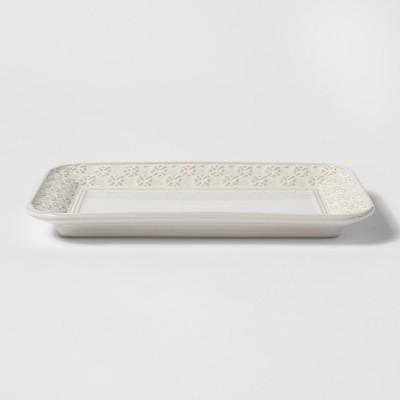 Ceramic Bathroom Tray Cream - Threshold™