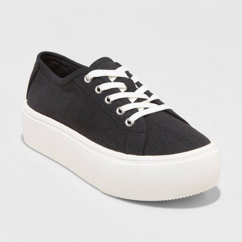 Women's Taryn Lace Up Sneakers - A New Day™ - image 1 of 3