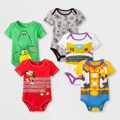 Baby Disney Toy Story 5pk Bodysuits - 0-3M