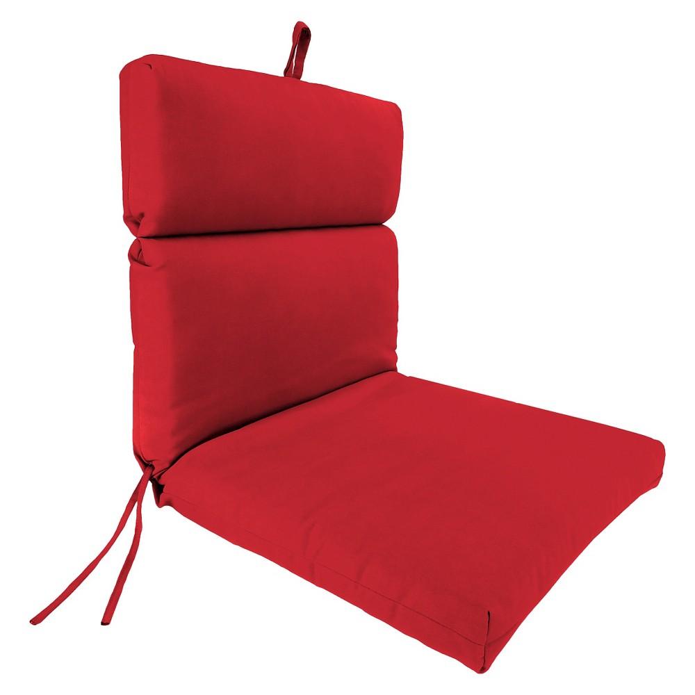 Jordan French Edge Chair Cushion - Cherry (Red)