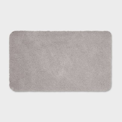 "20""x34"" Performance Nylon Bath Rug Gray - Threshold™"
