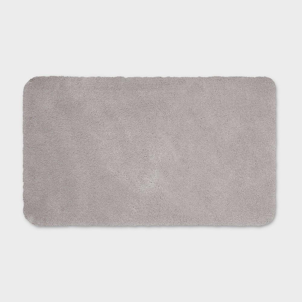 20 34 X34 34 Performance Nylon Bath Rug Gray Threshold 8482