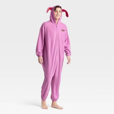 Men's Warner Bros. Bunny Christmas Story Union Suit - Pink