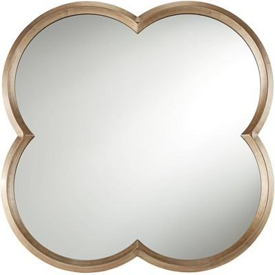 """Noble Park Palazzo Gold 34 3/4"""" x 34 3/4"""" Clover Framed Wall Mirror"""
