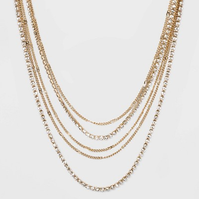 """14"""" Multi Row Cup Chain Necklace - A New Day™ Gold"""