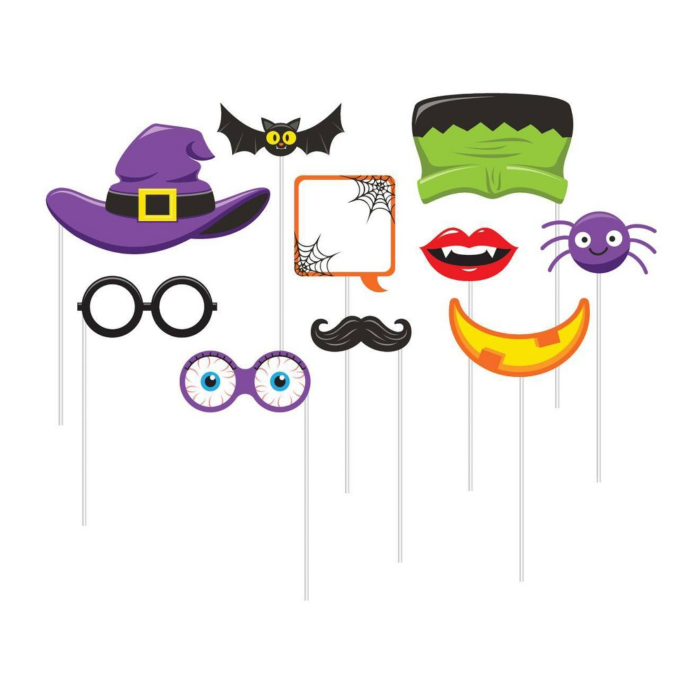 10ct Halloween Photo Booth Props