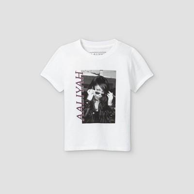 Toddler Girls' Aaliyah Short Sleeve Graphic T-Shirt - White