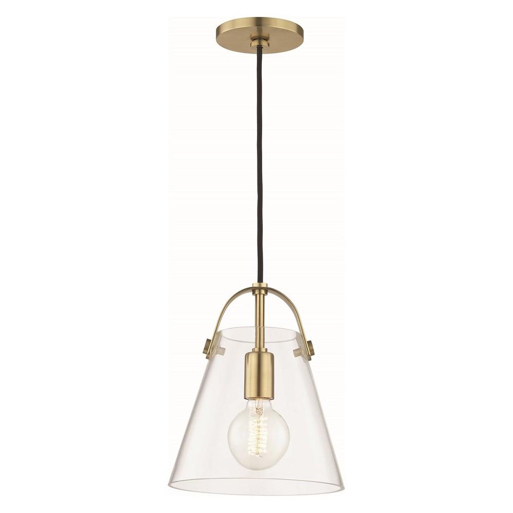 1pc Karin Small Light Pendant Brass - Mitzi by Hudson Valley