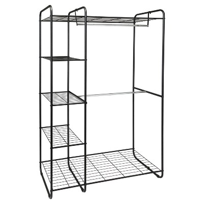 Freestanding Closet Black/Silver - Room Essentials™