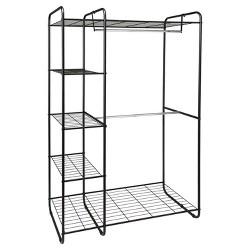 Freestanding Closet Black/Silver - Room Essentials™