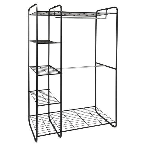 Freestanding Closet Black/Silver - Room Essentials™ - image 1 of 4