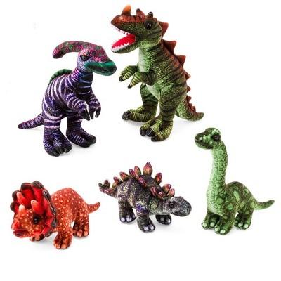 HearthSong - Colorful Dino Stuffed Animal Collection for Kids