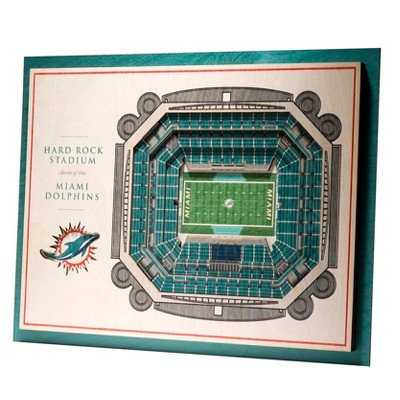 NFL Miami Dolphins 5-Layer StadiumViews 3D Wall Art