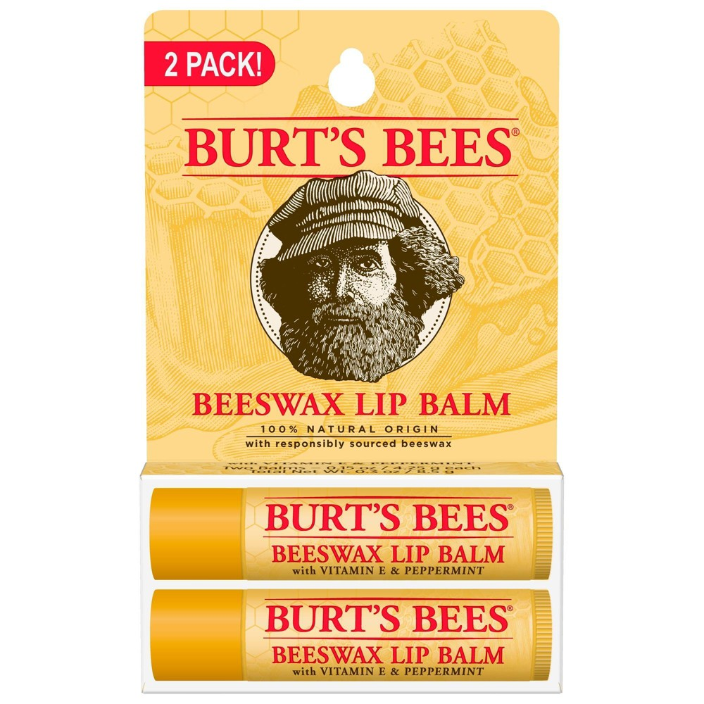 Image of Burt's Bees Beeswax Lip Balm - 2ct