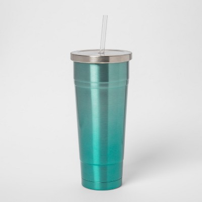 25oz Stainless Steel Straw Tumbler Green