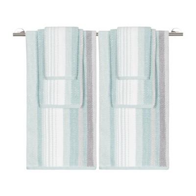 6pc Addison Bath Towel Set Seaglass Gray/Blue - Caro Home