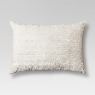Cream Cane Chenille Oblong Toss Throw Pillow 20 x14  - Threshold™