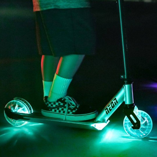 Y-volution Kids' Neon Ghost LED Scooter with Light-Up Wheels image number null