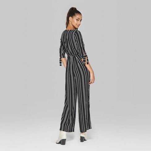 045ff568b8c Women s Tie Short Sleeve Jumpsuit - Wild Fable™   Target