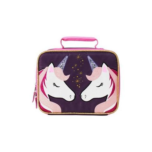 Double Unicorn Lunch Bag - Black/White