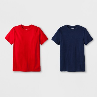Boys' 2pk Short Sleeve T-Shirt - Cat & Jack™ Navy/Red