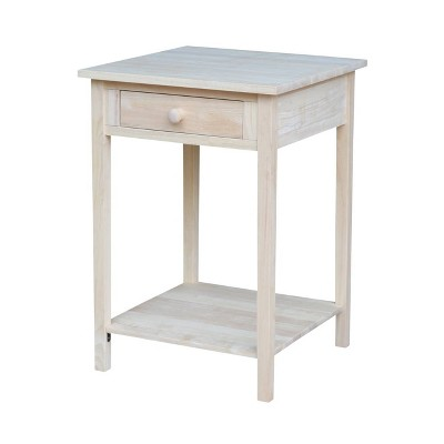 Nightstand Unfinished - International Concepts