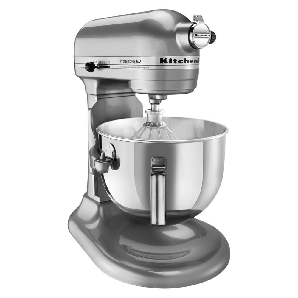 KitchenAid Refurbished Pro HD Series 5qt Bowl-Lift Stand Mixer Metallic Chrome - RKG25H0XMC