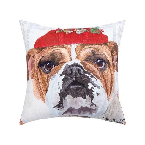 C F Home 18 X 18 Bull Dog Indoor Outdoor Decorative Throw Pillow Target