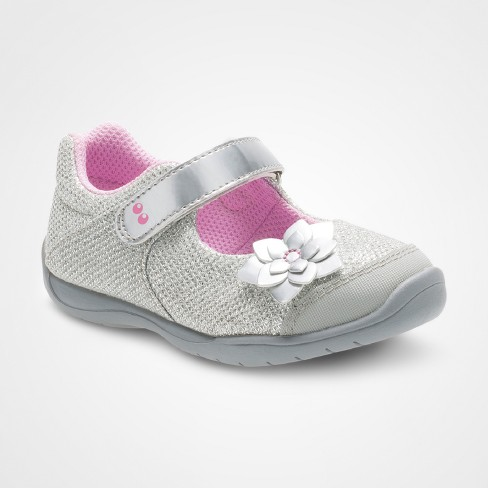 Toddler Girls' Surprize by Stride Rite® Katelyn Mary Jane Shoes - Silver - image 1 of 4