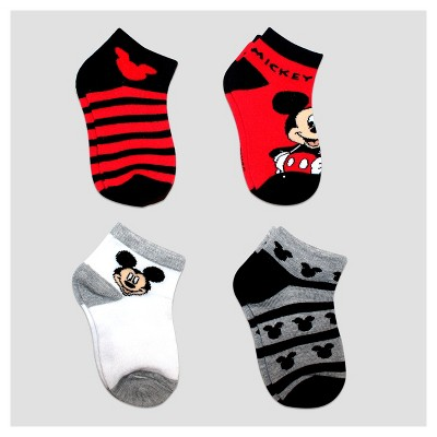 Baby Girls' Disney Mickey Mouse 4pk Ankle Socks - Red 12-24M