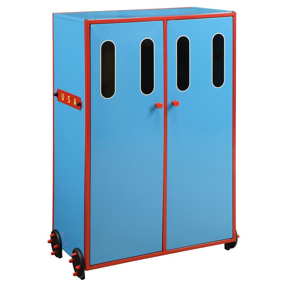 Tobi Kids Train Wardrobe - Blue - Acme