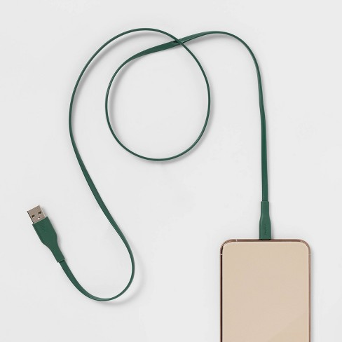 heyday™ 3' Lighting to USB-A Flat Cable - Evergreen - image 1 of 2
