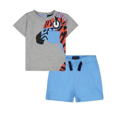 Andy & Evan  Toddler Boys Tee Shirt Set