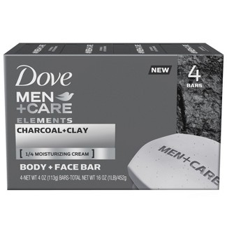 Dove Men Charcoal and Clay 4 Bar Soap