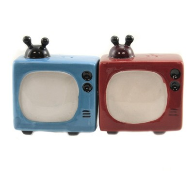 "Tabletop 3.25"" Retro Television Antenna Console Rabbit Ears Pacific Trading  -  Salt And Pepper Shaker Sets"