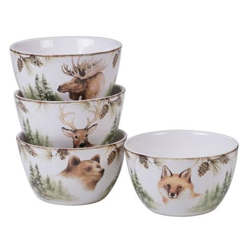 22oz 4pk Earthenware Mountain Retreat Ice Cream Bowls White - Certified International - image 1 of 2